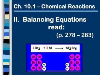 Ch. 10.1 – Chemical Reactions