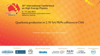 Quarkonia  production in 2.76  TeV PbPb  collisions in CMS