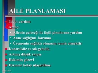 AILE PLANLAMASI