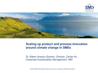 Scaling up product and process innovation around climate change in SMEs