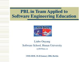 PBL in Team Applied to Software Engineering Education