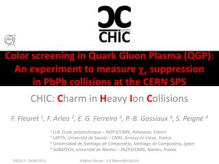 CHIC:  C harm in  H eavy  I on  C ollisions