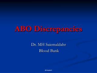 ABO Discrepancies