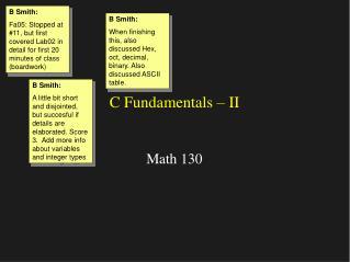C Fundamentals – II