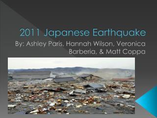 2011 Japanese Earthquake