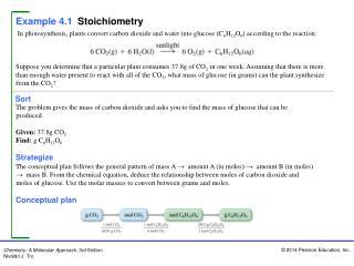 Example 4.1 Stoichiometry