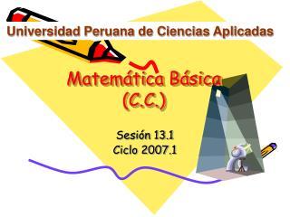 Matemática Básica (C.C.)