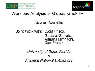 Workload Analysis of Globus' GridFTP