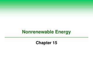 Nonrenewable Energy