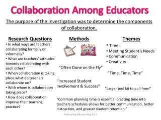 Collaboration Among Educators
