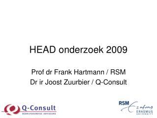 HEAD onderzoek 2009