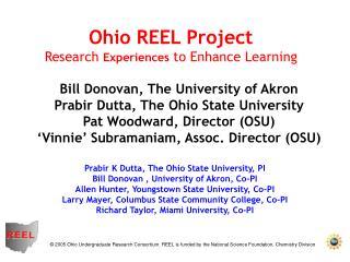 Prabir K Dutta, The Ohio State University, PI Bill Donovan , University of Akron, Co-PI Allen Hunter, Youngstown State U