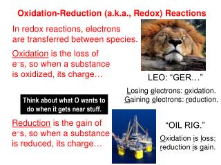Oxidation-Reduction (a.k.a., Redox) Reactions