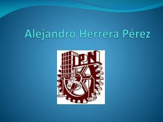 Alejandro Herrera Pérez