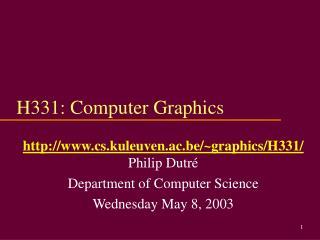 H331: Computer Graphics