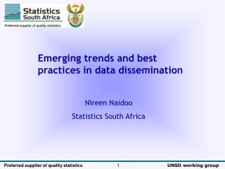 Emerging trends and best practices in data dissemination