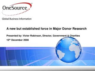 A new but established force in Major Donor Research