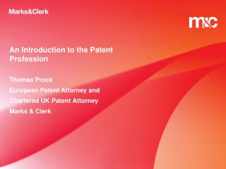 An Introduction to the Patent Profession