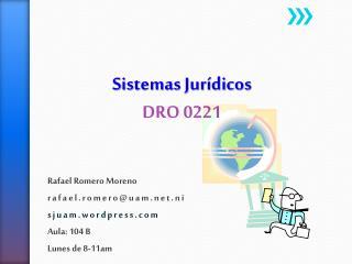 Sistemas Jur�dicos DRO 0221