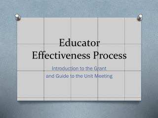 Educator Effectiveness Process