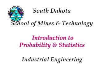 Introduction to  Probability & Statistics Concepts of Probability