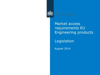 Market access requirements EU Engineering products Legislation