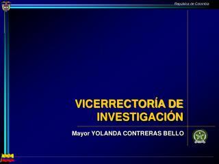 VICERRECTORÍA DE INVESTIGACIÓN