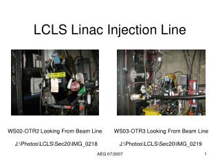 LCLS Linac Injection Line