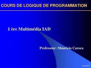 COURS DE LOGIQUE DE PROGRAMMATION