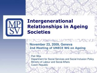 Intergenerational Relationships in Ageing Societies