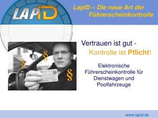 LapID – Die neue Art der  Führerscheinkontrolle