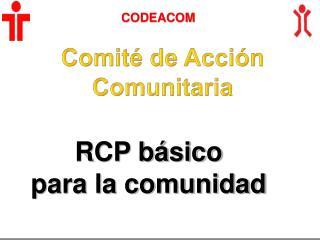 RCP b�sico para la comunidad