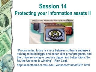 Session 14 Protecting your information assets II