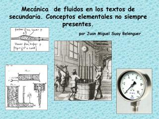 Mecánica  de fluidos en los textos de secundaria. Conceptos elementales no siempre presentes.