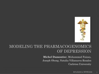 Modeling the pharmacogenomics of depression