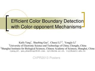 Efficient Color Boundary Detection with Color-opponent Mechanisms