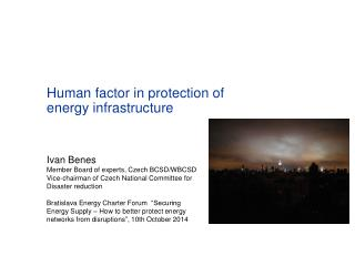 Human factor in protection of energy infrastructure