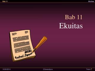 Bab 11 Ekuitas