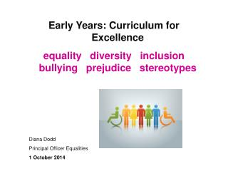 Early Years: Curriculum for Excellence