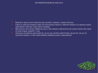 INFORMAČNÍ RADNICE 2006-2010
