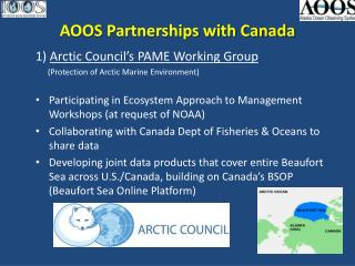 AOOS Partnerships with Canada