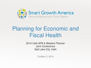 Planning for Economic and Fiscal Health