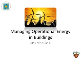 Managing Operational Energy  in Buildings