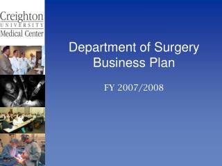 Department of Surgery Business Plan