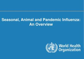 Seasonal, Animal and Pandemic Influenza: An Overview