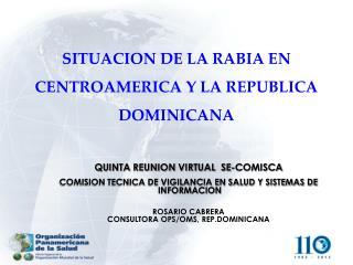 SITUACION DE LA RABIA EN CENTROAMERICA Y LA REPUBLICA DOMINICANA