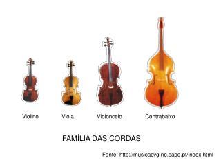 Violino               Viola               Violoncelo               Contrabaixo
