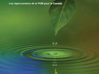 Les répercussions de la PGM pour le Canada