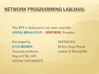 Network Programming lab(java)
