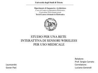 Universit� degli Studi di Trieste